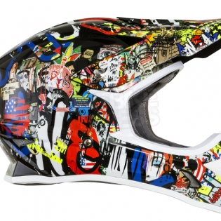 2018 ONeal 3 Series Motocross Helmet - Rancid Multi Image 3