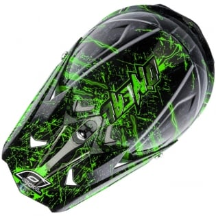 2018 ONeal 3 Series Motocross Helmet - Mercury Black Green Image 2