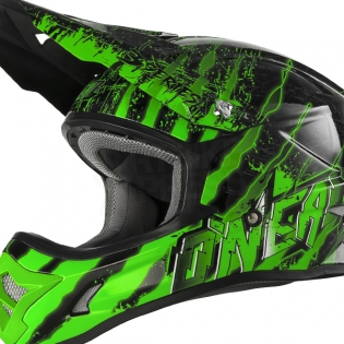 2018 ONeal 3 Series Motocross Helmet - Mercury Black Green Image 3