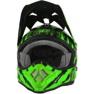 2018 ONeal 3 Series Motocross Helmet - Mercury Black Green Image 4