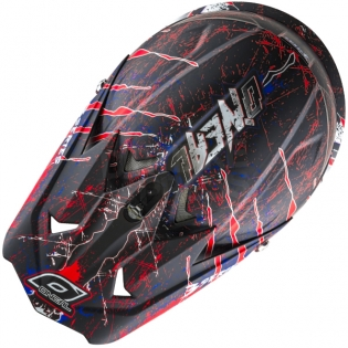 2018 ONeal 3 Series Motocross Helmet - Mercury Matt Blue Red White Image 2