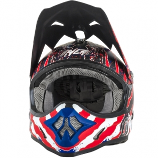 2018 ONeal 3 Series Motocross Helmet - Mercury Matt Blue Red White Image 4