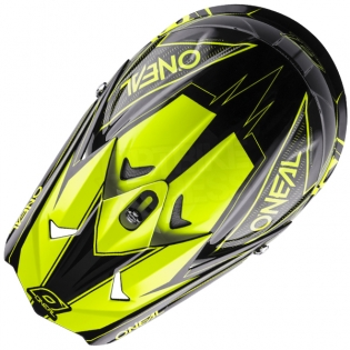 2018 ONeal 3 Series Motocross Helmet - Fuel Black Neon Yellow Image 2