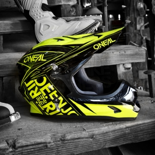 2018 ONeal 3 Series Motocross Helmet - Fuel Black Neon Yellow Image 3