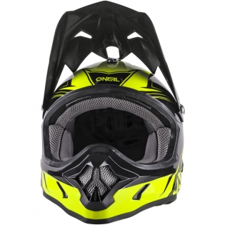 2018 ONeal 3 Series Motocross Helmet - Fuel Black Neon Yellow Image 4
