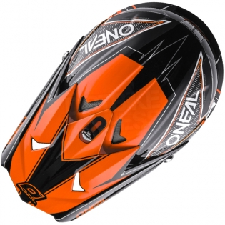 2018 ONeal 3 Series Motocross Helmet - Fuel Black Orange Image 2