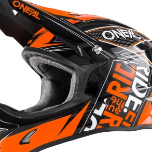 2018 ONeal 3 Series Motocross Helmet - Fuel Black Orange Image 3