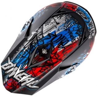 2018 ONeal 5 Series Vandal Motocross Helmet - Blue Red White Image 2