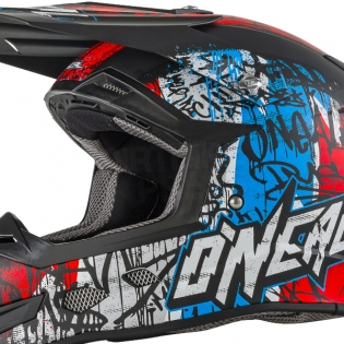 2018 ONeal 5 Series Vandal Motocross Helmet - Blue Red White Image 3