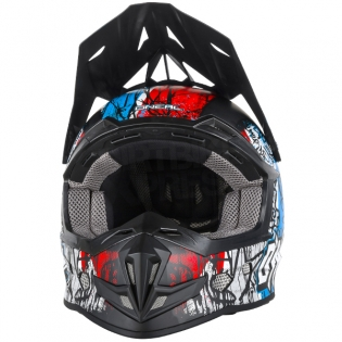 2018 ONeal 5 Series Vandal Motocross Helmet - Blue Red White Image 4