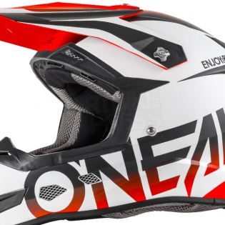 2018 ONeal 5 Series Blocker Motocross Helmet - Black Orange Image 3