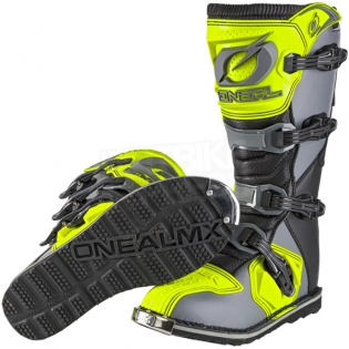 2018 ONeal Rider Boots - Grey Neon Yellow Image 2