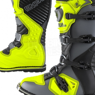 2018 ONeal Rider Boots - Grey Neon Yellow Image 3