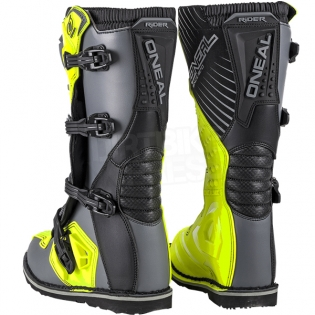 2018 ONeal Rider Boots - Grey Neon Yellow Image 4