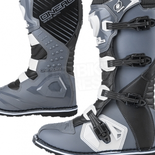 2018 ONeal Rider Boots - Black Grey Image 3