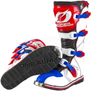 2018 ONeal Rider Boots - Blue Red White Image 2