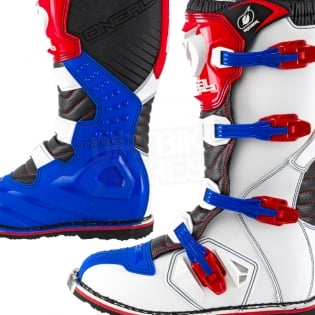 2018 ONeal Rider Boots - Blue Red White Image 3