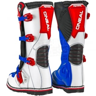 2018 ONeal Rider Boots - Blue Red White Image 4