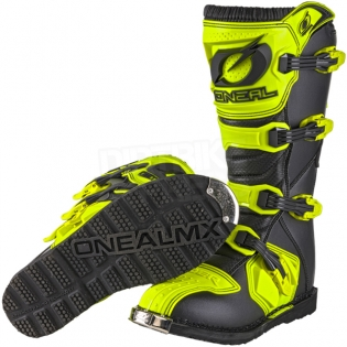 2018 ONeal Rider Boots - Neon Yellow Image 2