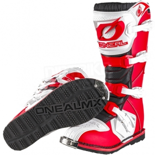 2018 ONeal Rider Boots - Red White Image 2