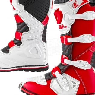 2018 ONeal Rider Boots - Red White Image 3