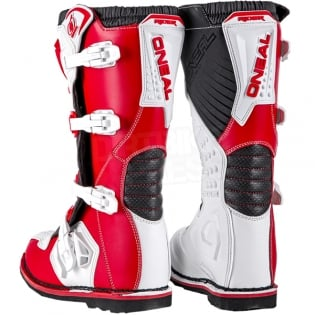 2018 ONeal Rider Boots - Red White Image 4