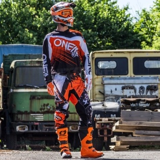 2018 ONeal Element Racewear Kit Combo - Black Orange Image 3