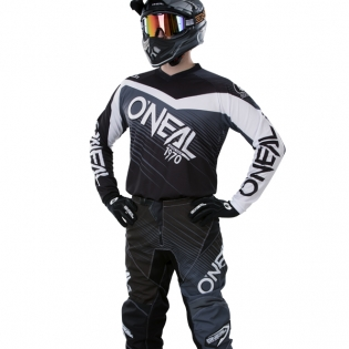 2018 ONeal Element Racewear Kit Combo - Black Grey Image 2