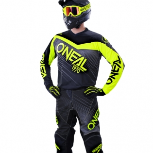 2018 ONeal Element Racewear Kit Combo - Black Neon Yellow Image 2