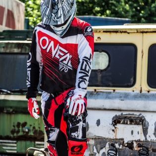 2018 ONeal Element Racewear Kit Combo - Black Red Image 2