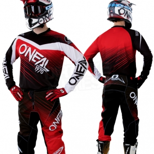 2018 ONeal Element Racewear Kit Combo - Black Red Image 3