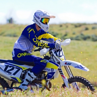 2018 ONeal Element Racewear Kit Combo - Blue Yellow Image 2