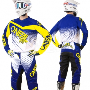 2018 ONeal Element Racewear Kit Combo - Blue Yellow Image 3