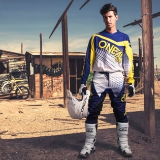 2018 ONeal Element Racewear Kit Combo - Blue Yellow Image 4