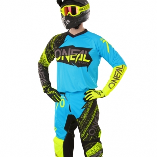 2018 ONeal Element Kit Combo - Burnout Black Blue Hi Viz Image 2