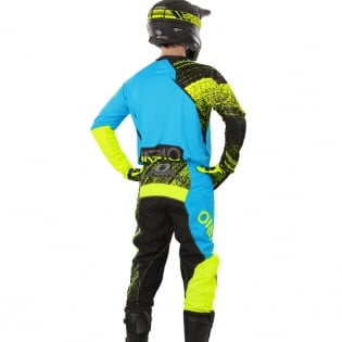 2018 ONeal Element Kit Combo - Burnout Black Blue Hi Viz Image 4