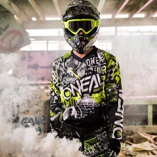 2018 ONeal Element Kit Combo - Attack Black Hi Viz Image 2
