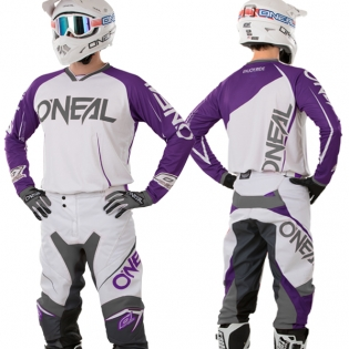 2018 ONeal Mayhem Lite Kit Combo - Blocker Purple White Image 2