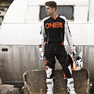 2018 ONeal Mayhem Lite Kit Combo - Blocker Black White Orange Image 2