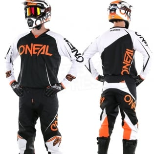 2018 ONeal Mayhem Lite Kit Combo - Blocker Black White Orange Image 3