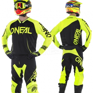 2018 ONeal Mayhem Lite Kit Combo - Blocker Black Neon Yellow Image 3