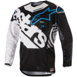 2018 Alpinestars Techstar Kit Combo - Venom Black White Aqua Image 2