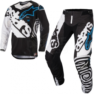 2018 Alpinestars Techstar Kit Combo - Venom Black White Aqua Image 3
