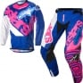 2018 Alpinestars Techstar Kit Combo - Venom Flo Pink Blue White