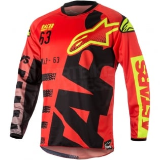 2018 Alpinestars Racer Kit Combo - Braap Red Black Flo Yellow Image 2