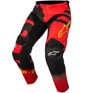 2018 Alpinestars Racer Kit Combo - Braap Red Black Flo Yellow Image 4