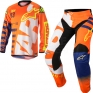 2018 Alpinestars Racer Kit Combo - Braap Flo Orange Blue White
