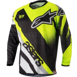 2018 Alpinestars Racer Kit Combo - Supermatic Black Flo Yellow Grey Image 2