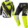 2018 Alpinestars Racer Kit Combo - Supermatic Black Flo Yellow Grey