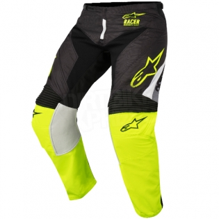 2018 Alpinestars Racer Kit Combo - Supermatic Black Flo Yellow Grey Image 4